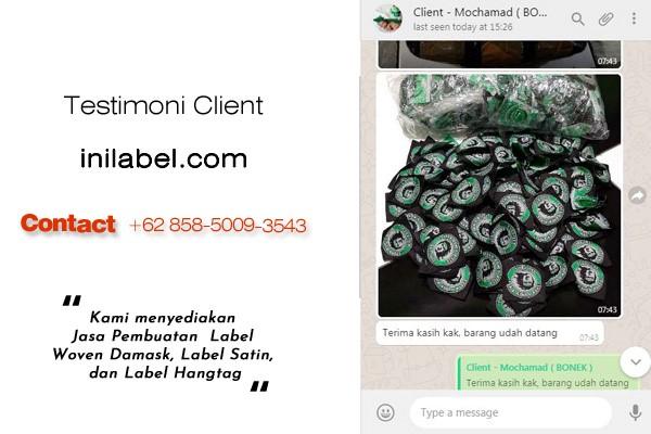 Label Baju Unik